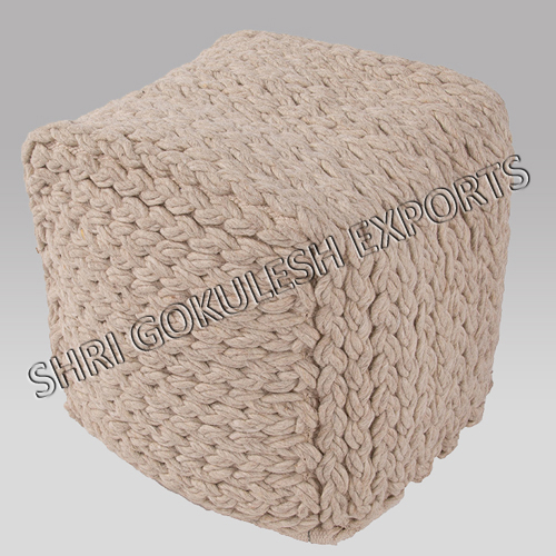 Wool Poufs And Ottoman Carpet Rugs Manufacturers India Impressive Shaggy Pouf Ottoman